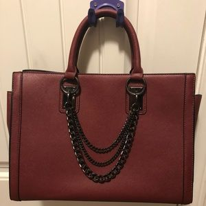 Burgundy JustFab Handbag